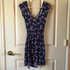 Kirra open back, floral print dress